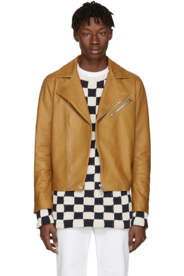 Acne Studios - Brown Leather Axl Jacket
