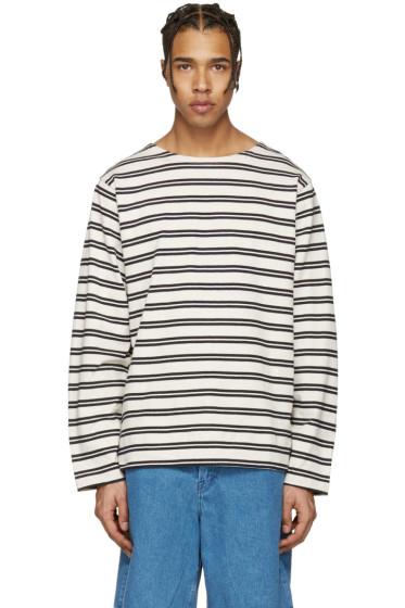 Acne Studios - Ecru Striped Nimes T-Shirt