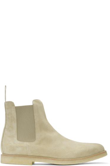 Common Projects - Tan Suede Chelsea Boots