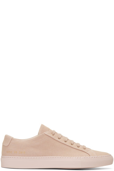 Common Projects - Pink Canvas Achilles Low Sneakers