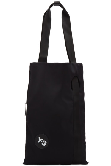 Y-3 - Black Logo Shopper Tote