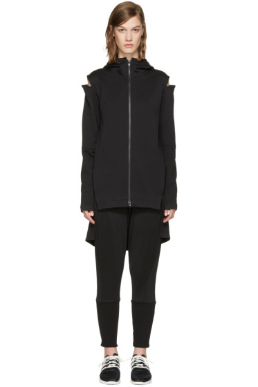 Y-3 - Black Cocoon Zip-Up Hoodie