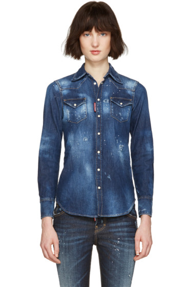 Dsquared2 - Blue Denim Western Shirt