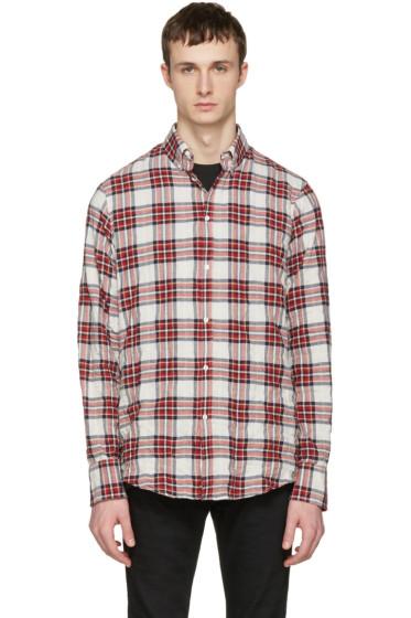 Dsquared2 - White Check Shirt