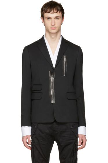 Dsquared2 - Black Zipped Blazer