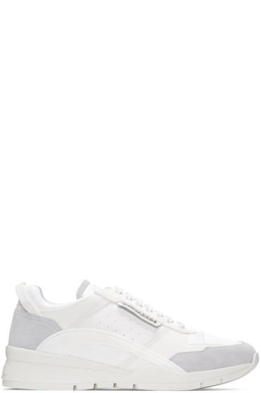 Dsquared2 - White Gommato & Velour Sneakers