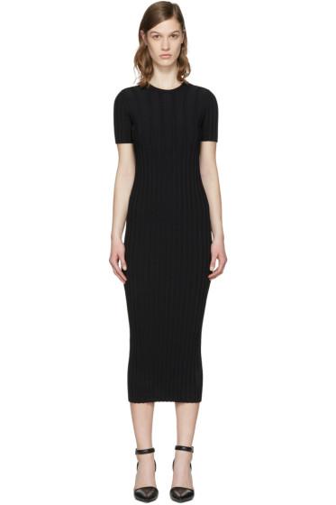 Helmut Lang - ブラック リブ ドレス
