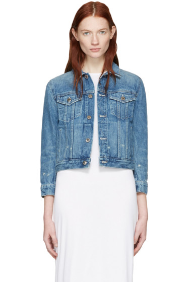 Helmut Lang - Blue Shrunken Denim Jacket
