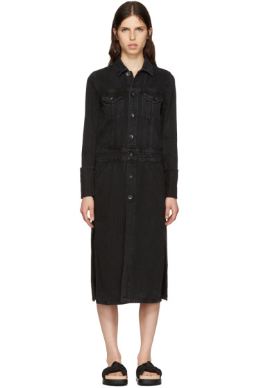 Helmut Lang - Black Denim Trench Coat Jacket