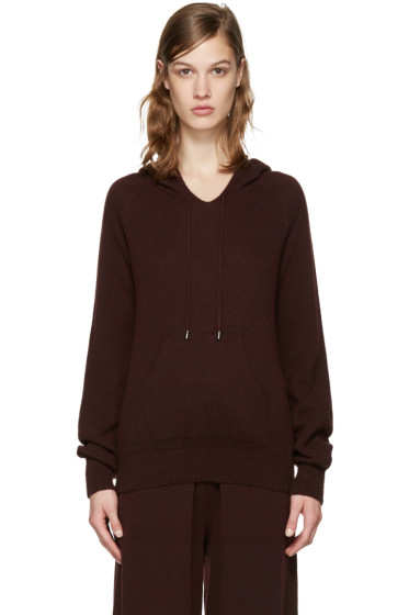 Helmut Lang - Burgundy Cashmere Hoodie