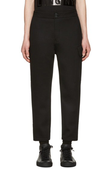 Helmut Lang - Black Cropped Cargo Pants