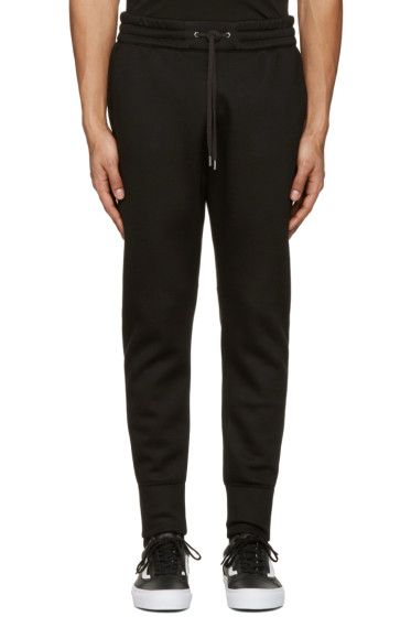 Helmut Lang - Black Curved Leg Track Pants