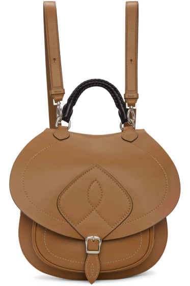 Maison Margiela - Brown Leather Satchel Backpack