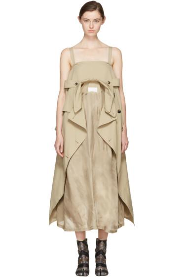 Maison Margiela - Beige Oversized Trench Dress