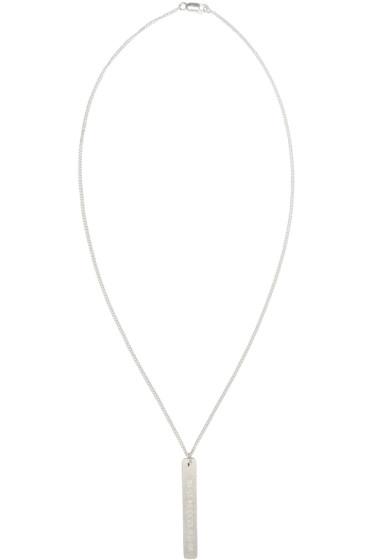 Maison Margiela - Silver Logo Pendant Necklace