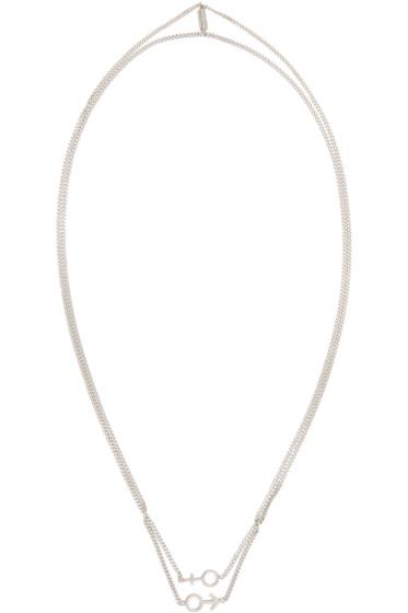 Maison Margiela - Silver Gender Sign Necklace