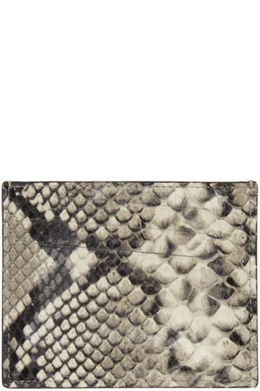 Maison Margiela - Black Snakeskin Card Holder