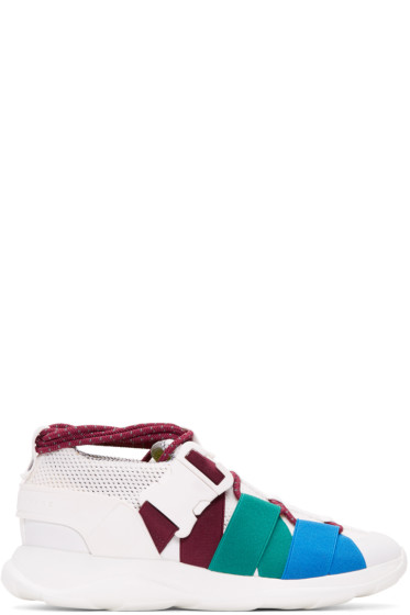 Christopher Kane - White Lace-Up & Buckle Sneakers