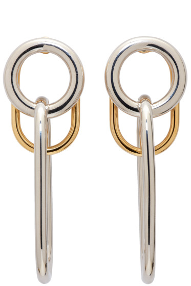 Alexander Wang - Silver & Gold Triple Link Earrings
