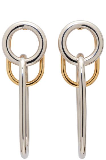 Alexander Wang - Silver & Gold Triple Link Earrings
