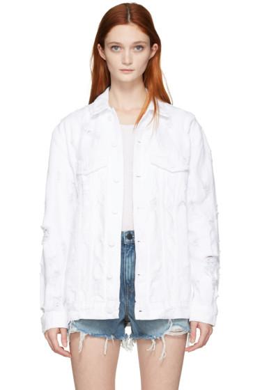Alexander Wang - White Denim Scratch Daze Jacket