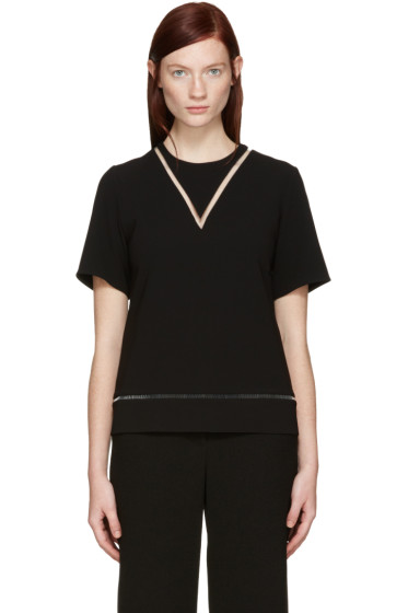 Alexander Wang - Black Boxy Fishline Top