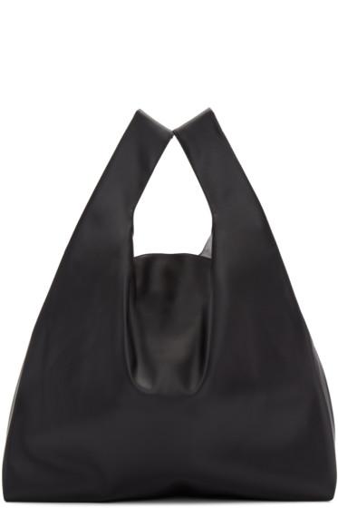 MM6 Maison Margiela - Black Faux-Leather Tote