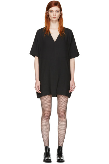 MM6 Maison Margiela - Black Oversized Tunic Dress