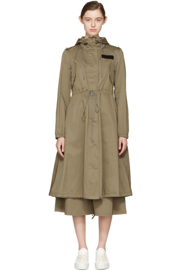 MM6 Maison Margiela - Green Oversized Parka