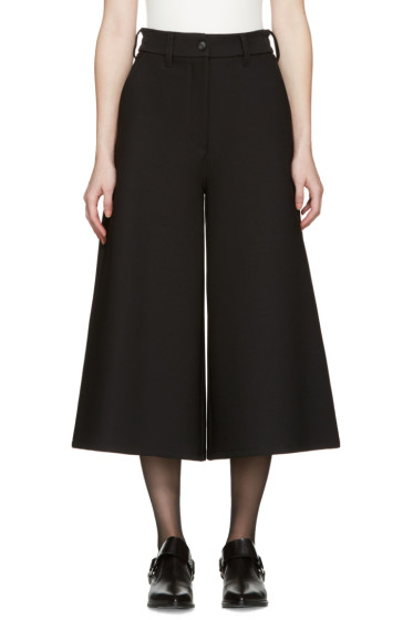 MM6 Maison Margiela - Black Wide-Leg Trousers