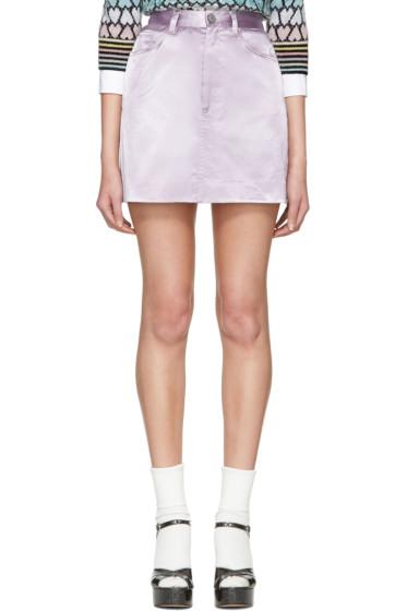 Marc Jacobs - Purple Satin Miniskirt