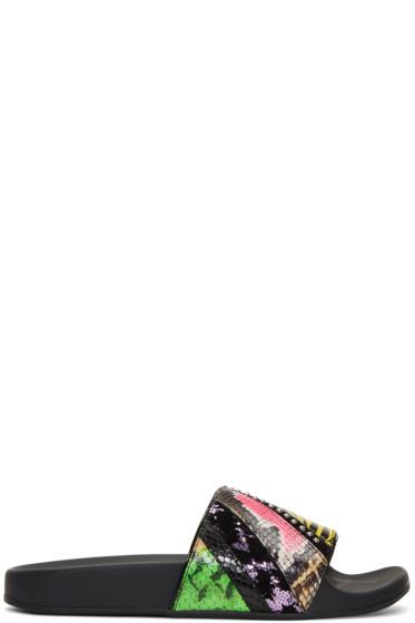 Marc Jacobs - Multicolor Patchwork Punk Cooper Slides