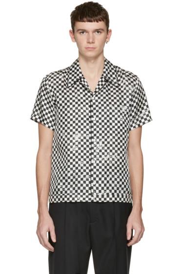 Marc Jacobs - Black Check Silk Pyjama Shirt