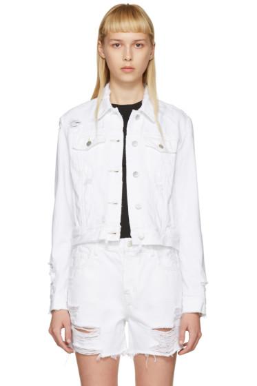 J Brand - White Denim Harlow Jacket
