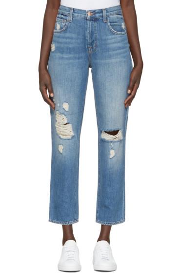 J Brand - Blue High-Rise Ivy Jeans
