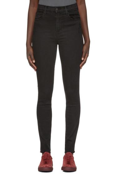 J Brand - Black High-Rise Carolina Jeans