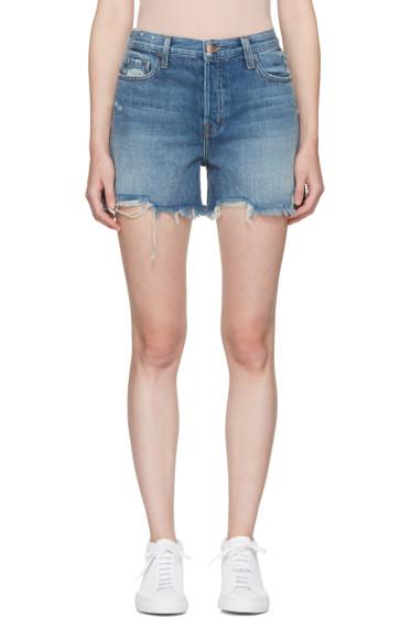J Brand - Blue Denim Ivy High-Rise Shorts