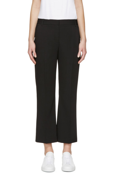 T by Alexander Wang - Black Drape Front Trousers