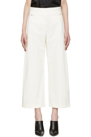 T by Alexander Wang - White High-Waisted Culottes
