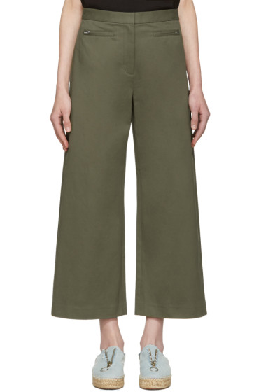T by Alexander Wang - Green High-Waisted Culottes