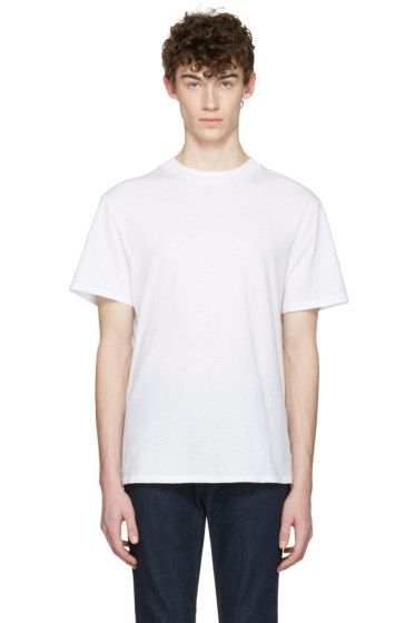 T by Alexander Wang - White High Neck T-Shirt