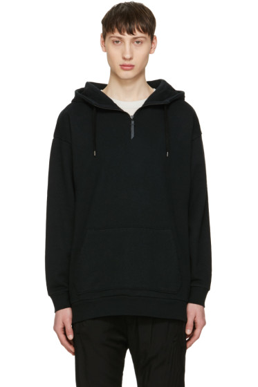 Robert Geller - Black Sweat Hoodie