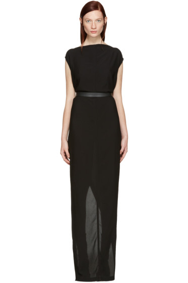 Rick Owens - Black Long Dagger Dress