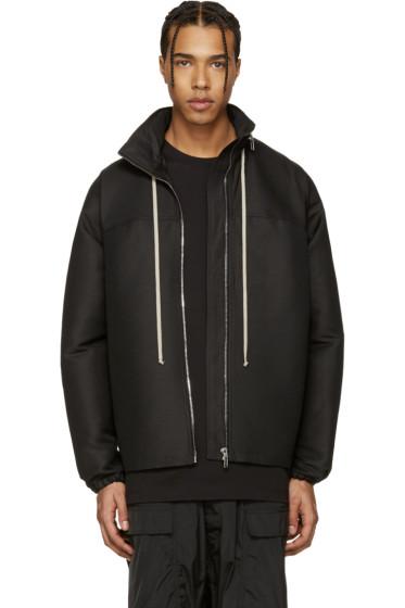 Rick Owens - Black Hooded Coat