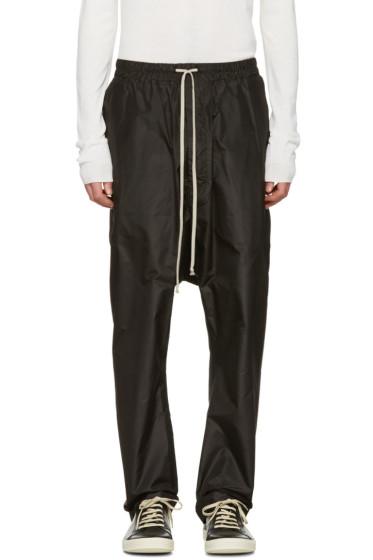 Rick Owens - Black Drawstring Trousers