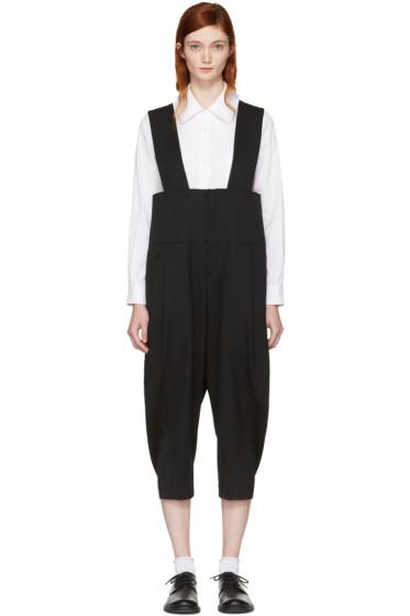Comme des Garçons - Black Wool Suspender Trousers
