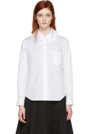 Comme des Garçons - White Oversized Collar Shirt