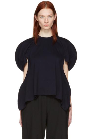 Comme des Garçons - Navy Volume Sleeve T-Shirt