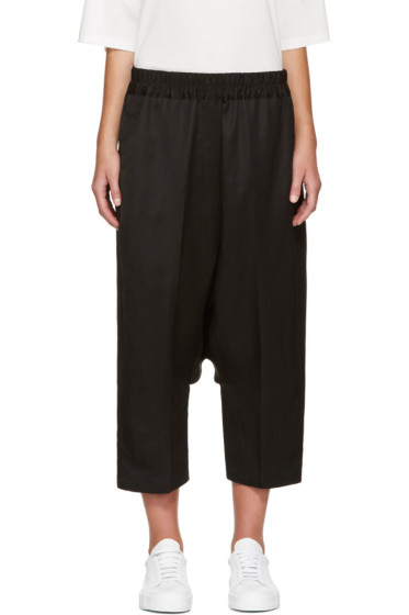 Jil Sander - Black Dropped Trousers