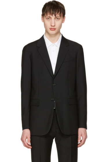 Jil Sander - Black Two-Button Suit Blazer